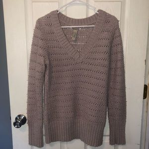 Lucky brand women's mauve sweater